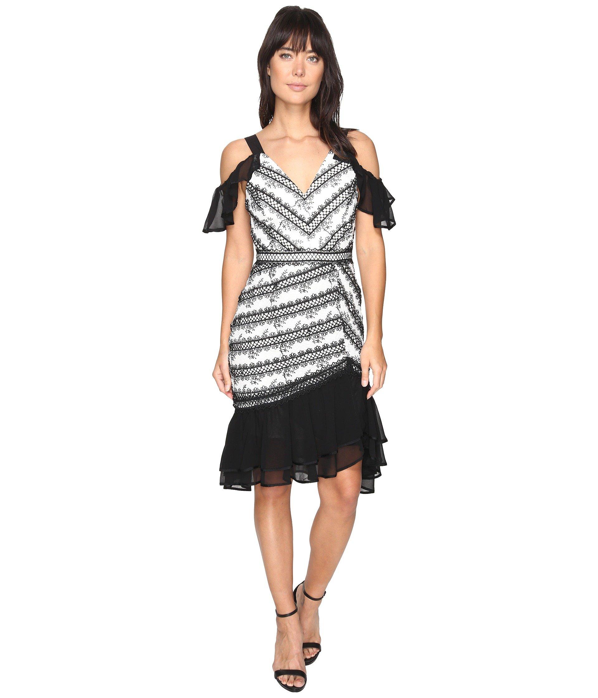 Nola Woven Lace Frill Dress