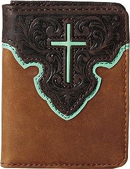 M&F Western - Contrast Cross Underlay Bi-Fold Flip Case
