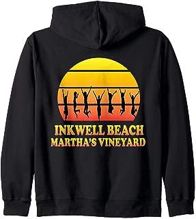 Inkwell Beach, Oak Bluffs, Martha's Vineyard, MA, Vintage Zip Hoodie