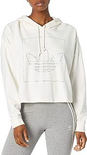 adidas Originals Sudadera con capucha corta para mujer