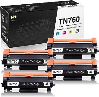 CMYBabee Compatible Toner Cartridge Replacement for Brother TN760 TN 760 TN730 to use with HL-L2350DW DCP-L2550DW MFC-L2710DW HL-L2395DW MFC-L2750DW HL-L2370DW HL-L2390DW Printer (Black, 4-Pack)