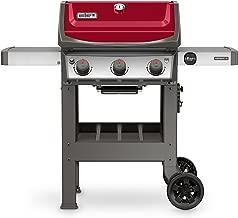 Weber 45030001 Spirit II E-310 3-Burner Liquid Propane Grill, Red