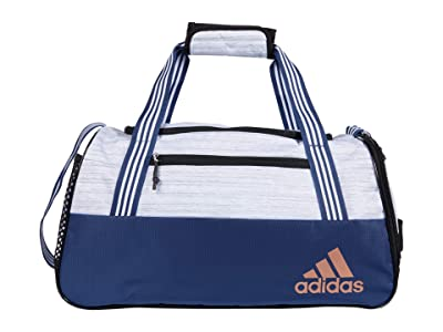 adidas Squad IV Duffel (Two-Tone White/Tech Indigo Blue/Rose Gold) Duffel Bags