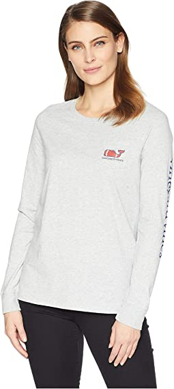 Long Sleeve Football Whale Pocket Tee