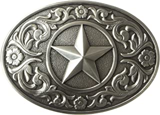 Nocona Men's Silver Star Oval Buckle