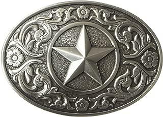 Nocona Men's Silver Star Oval Buckle