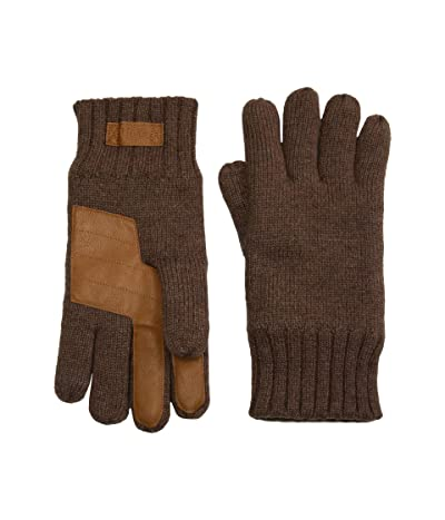 UGG Knit Gloves with Tech Leather Palm (Stout) Extreme Cold Weather Gloves