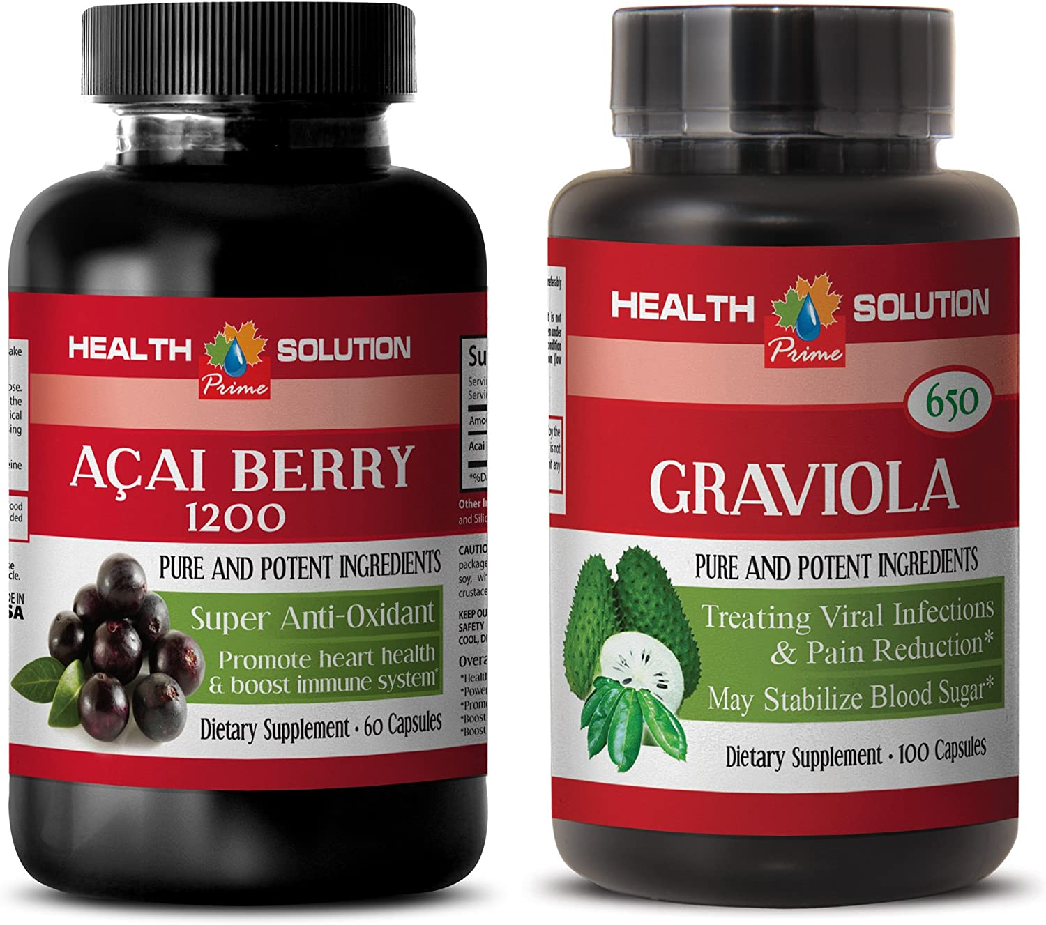 Mood Support Supplements - ACAI Berry Recommended Under blast sales acai GRAVIOLA Energy