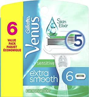 Gillette Venus Extra Smooth Sensitive Women's Razor Blades - 6 Refills