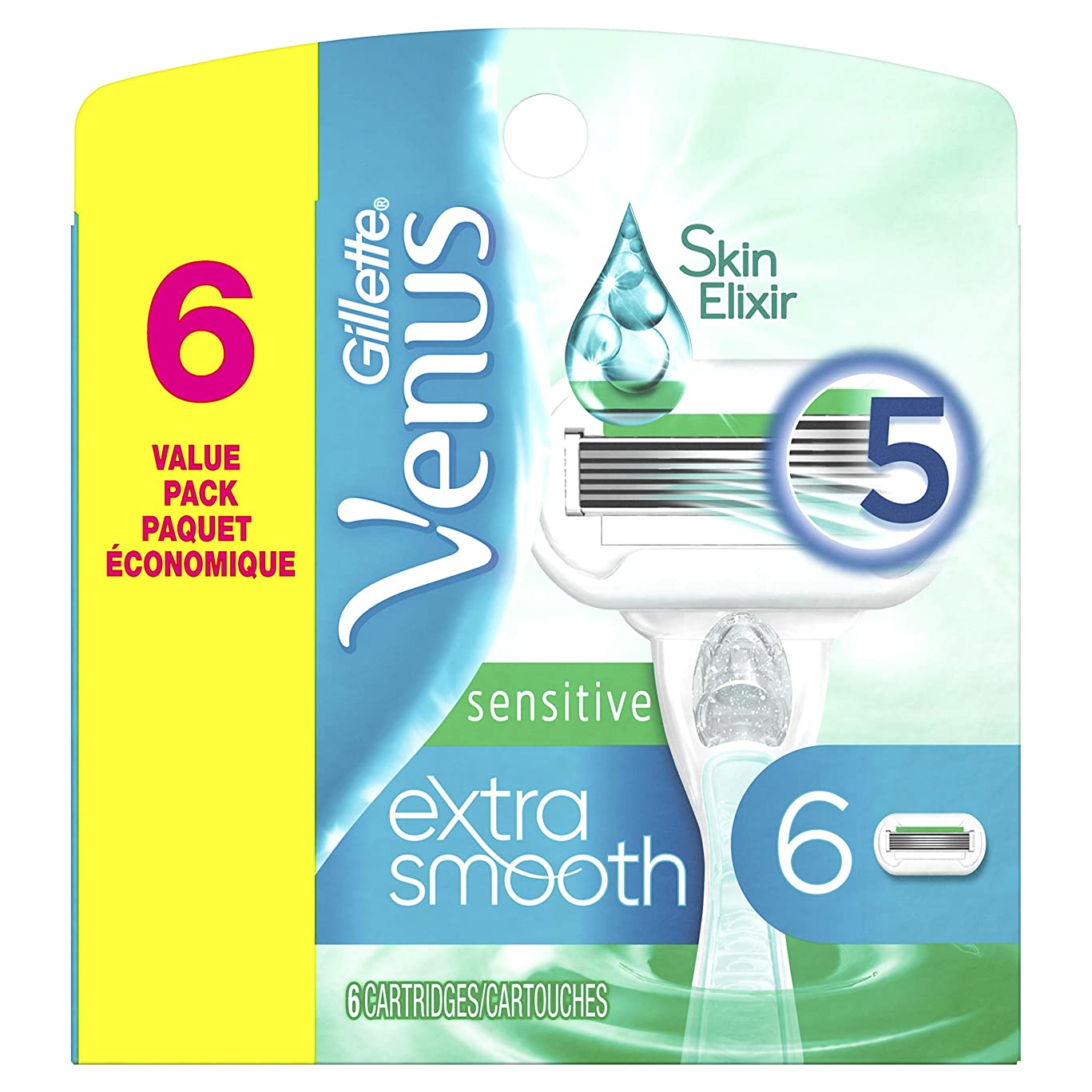 Gillette Venus Extra Smooth Sensitive Women's Blade - 6 Refills