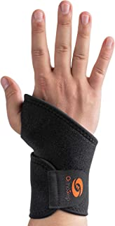 OrthoStep Black Supportive,  Adjustable,  and Breathable Wrist Brace