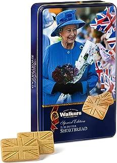 Walkers Shortbread Queen Keepsake Tin with Union Jack Shortbread Cookies, 8.8 Ounces