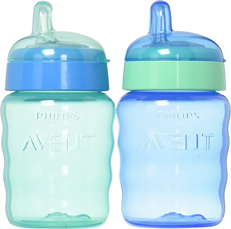 Philips Avent My Easy Sippy Cup 9 Ounce Blue Green Stage 2 Colors May Vary