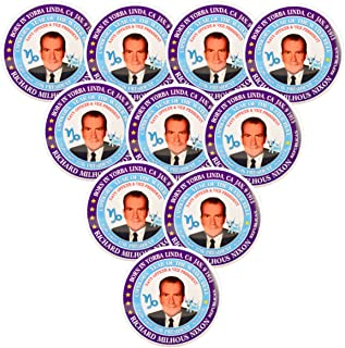 Pack-10 Richard Nixon (Capricorn Water Bull) 37th President Pin-Back Button