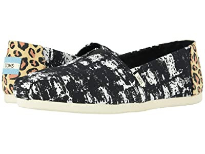 TOMS Venice Collection Alpargata 3.0 (Black Abstract Canvas Print) Women