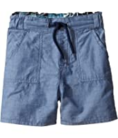 Paul Smith Junior - Bike/Chambray Reversible Shorts (Toddler/Little Kids)