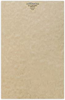 50 Sandy Brown Parchment 65lb Cover Weight Paper 11 X 17 Inches Cardstock Colored Sheets Tabloid Ledger Size -Printable Old Parchment Semblance