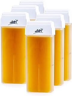 Bella Donna - Cartuchos de cera depilatoria tibia, miel, 6 unidades de 100ml