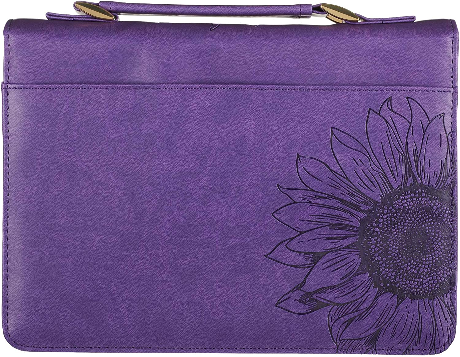 Medium Bible Case Book Cover Purple Sunflower Fashion Bible Cover Faux Leather She is Clothed w//Strength Dignity Proverbs 31 Woman