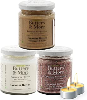 Butters & More Vegan Coconut Butter Combo, (3x200G). ith a Surprise Diwali Gift!