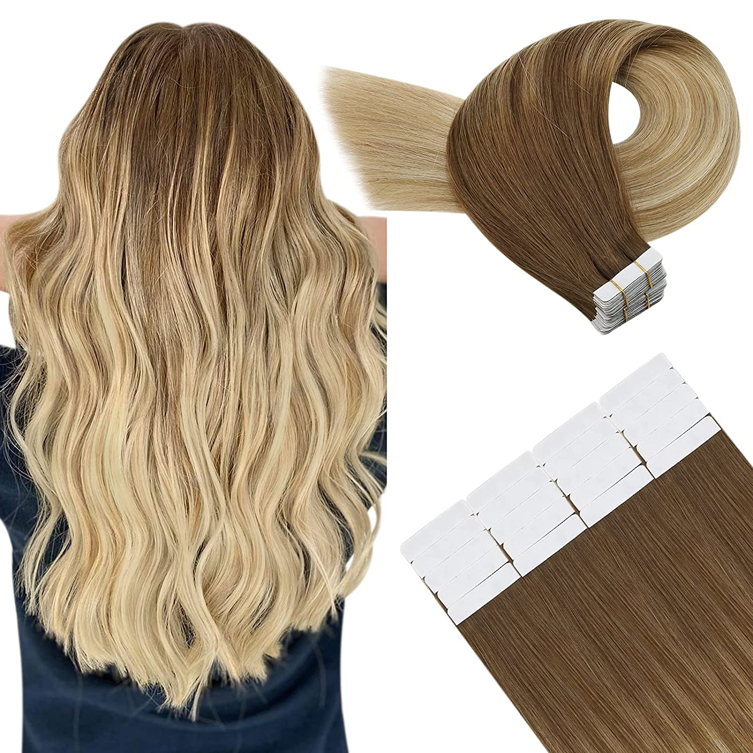 Invisible Tape in Hair Fashionable Free shipping Extensions 50g Human 20pcs Remy Huma