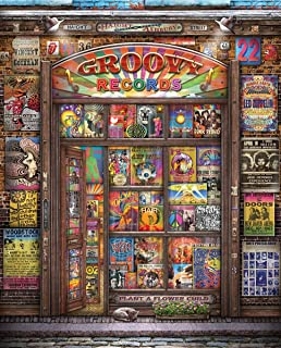 Springbok Puzzles - Groovy Records - 1000 Piece Jigsaw Puzzle - Large 30 Inches by 24 Inches Puzzle - Made in USA - Unique Cut Interlocking Pieces