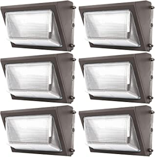 Sunco Lighting 6 Pack 120W LED Wall Pack, Daylight 5000K, 12000 LM, HID Replacement, IP65, 120-277V, Bright Consistent Com...