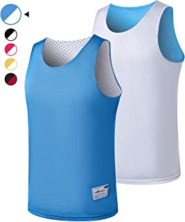 ALFGO Mesh Tank Top Jersey, Reversible Durable &Breathable, Gift of 3 Wristbands