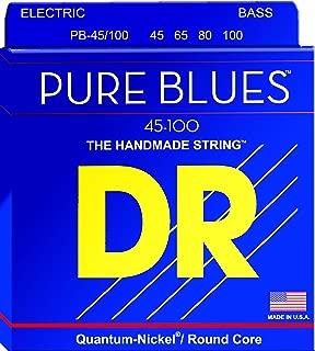 DR Strings PURE BLUES Bass Guitar Strings (PB-45/100)