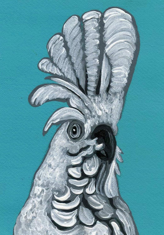 ACEO Max 77% OFF Max 60% OFF ATC -Umbrella Cockatoo Parrot Art Miniature Bird P Wildlife