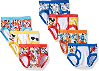 Disney Boys' Toddler Mickey Mouse 3-Pack or 7-Pack Briefs 18M, 2/3T, 4T