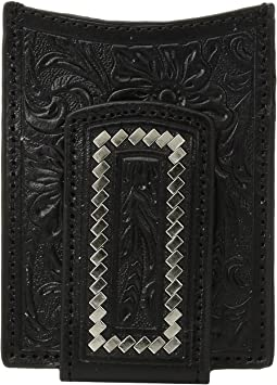 Steel Lacing Tooled Money Clip Wallet