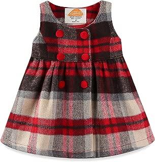 Faux Wool Holiday Girls Dresses Plaid Sleeveless