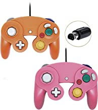 Gamecube Controller, Wired Gamepad for Nintendo Wii Console (Pink and Orange)