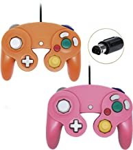 Wired Gamecube Controllers for Nintendo Wii Game Cube Switch Console (Pink and Orange)