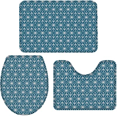 Amazon Com Sweet Home Collection Bathroom Mat 2 Piece Bath Contour Toilet Rug Set Sinatra Silver Home Kitchen