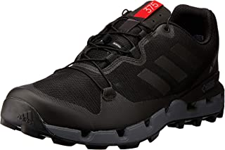 adidas Men's Terrex Fast GTX-Surround Hikings Shoes, Core Black/Grey/Hi-Res Red