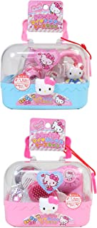Hello Kitty 2 Pink and Blue Cases Filled with Accessories - Doctor and Stylish Accessory Sets (Japan Import)