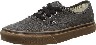 Skateboard Shoes Authentic Washed Canvas Black Gum Size 5