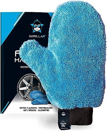 Gorillar Mikrofaser Felgenhandschuh Für Auto Motorrad Fahrrad Waschhandschuh Für Alu Felgen Stahlfelgen Radkappen Mit Aufhänger Auto