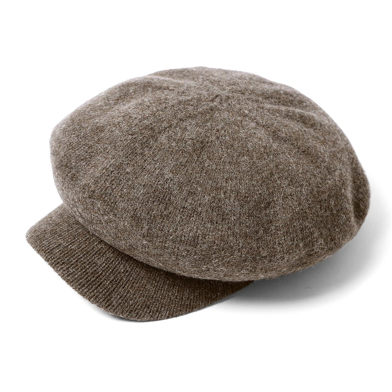 (エムエイチエー) M.H.A.style キャスケット レディース ウール混 CAP 帽子 ナチュラル 無地 21644