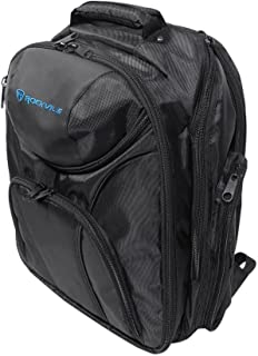 Rockville DJ Laptop/Gear Travel Backpack Bag w/ Headphone Compartment+Dividers