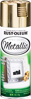 Rust-Oleum 1910830-6 PK Specialty Metallic 1910830 Spray Paint 11 oz, Gold, 6-Pack,