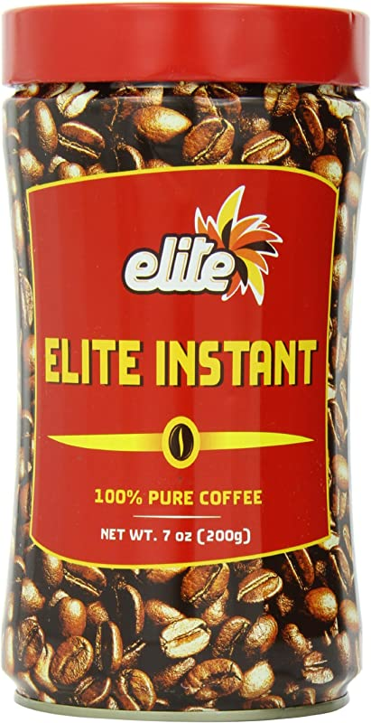 Elite Coffee Instant Tin 7 Ounce Tins Pack Of 2