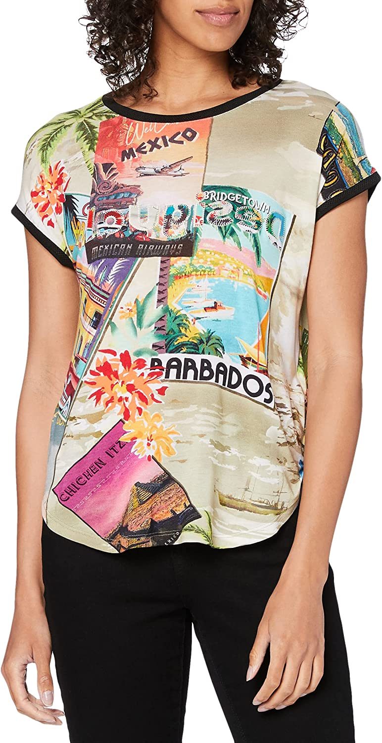 Low price Desigual Women's Woman Knit Sleeveless T-Shirt Excellent