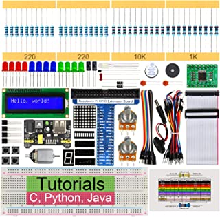 Freenove Super Starter Kit for Raspberry Pi 4 B 3 B+ 400, 285-Page Detailed Tutorials, Python C Java Code, 164 Items, 38 P...