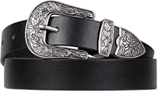 Women Leather Belt For Pants Dress Jeans Western Vintage Designer Belt With Pin Buckle By WHIPPY