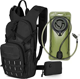SKL Hydration Pack Tactical Water Backpack with 2L BPA Free Water Bladder, Military Water Bag Thermal Insulation, Adjustab...