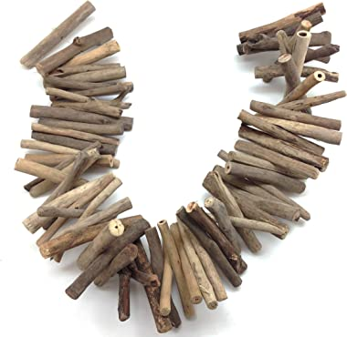PEPPERLONELY 36 Inch Weathered Wood Garland for Decorating, Creating and Embellishing
