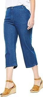 Woman Within Women's Plus Size Cotton Capri Jean